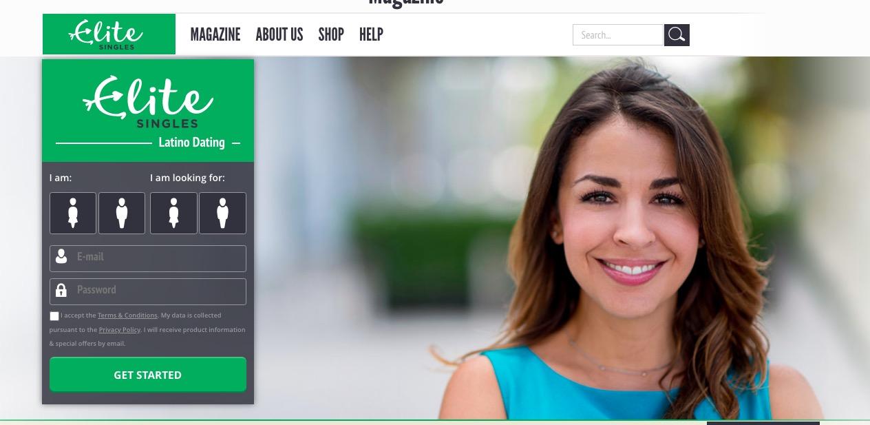 EliteSingles latin main page