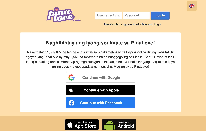 PinaLove main page